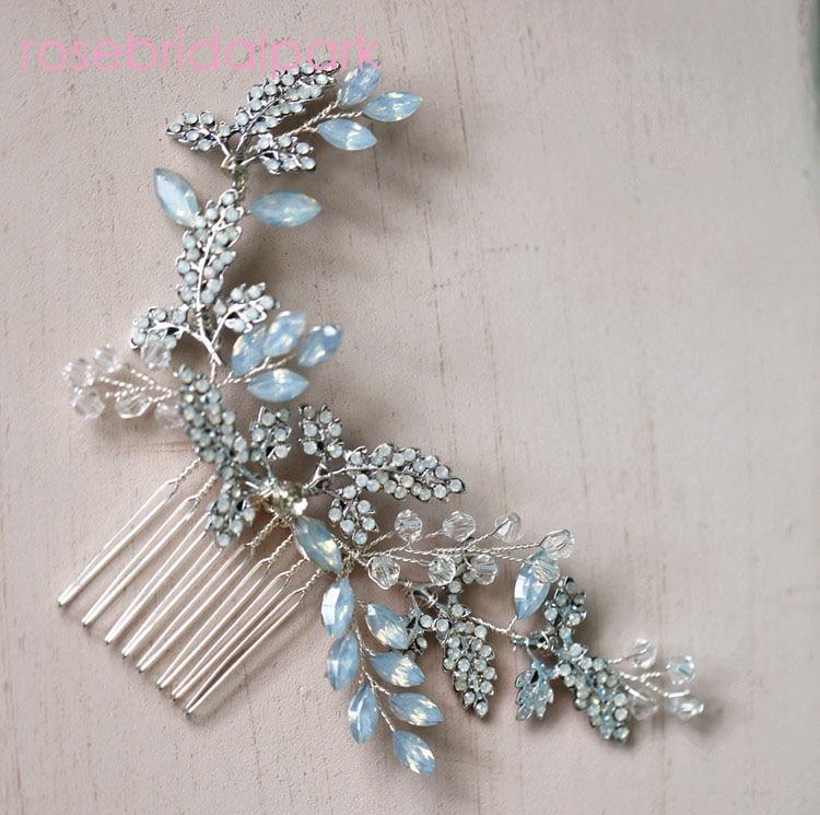 Rosebridalpark Leaf Crystal Hair Comb Pin Bridesmaid Headpiece Fashion Wedding Vine Accessories Bridal Jewelry Head Piece t942-in Hair Jewelry from Jewelry & Accessories on Aliexpress.com | Alibaba Group