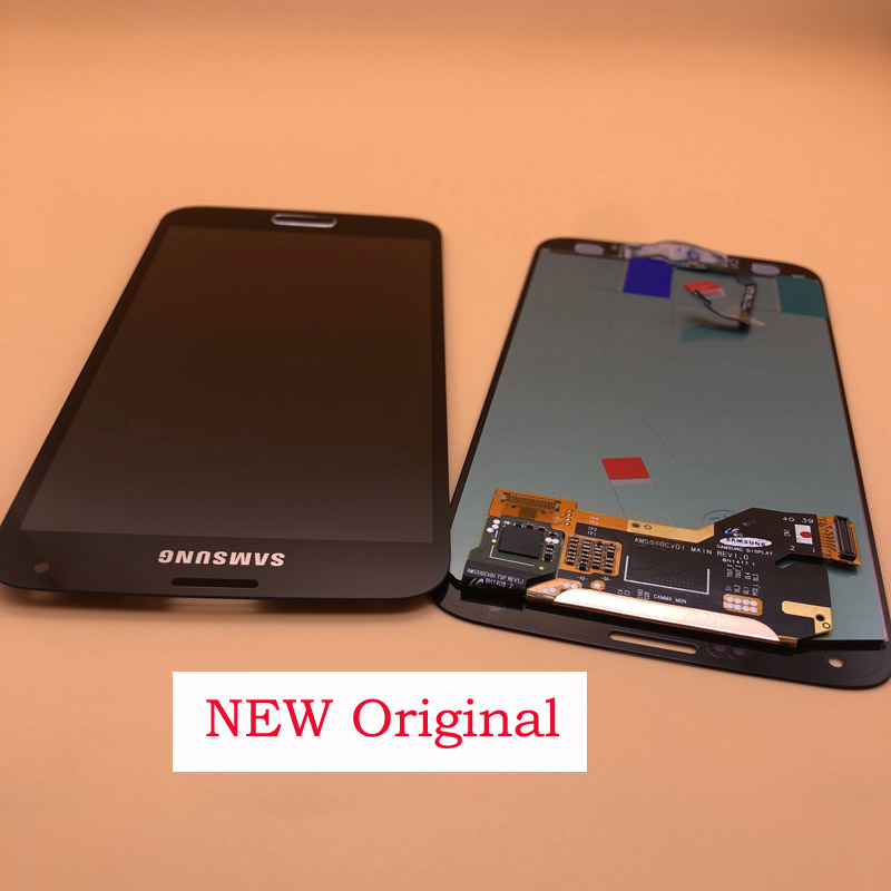 ORIGINAL 5.1'' SUPER AMOLED LCDs For SAMSUNG Galaxy S5 LCD Display i9600 G900 <font><b>G900F</b></font> G900M G900H SM-<font><b>G900F</b></font> LCD Touch Screen Button image