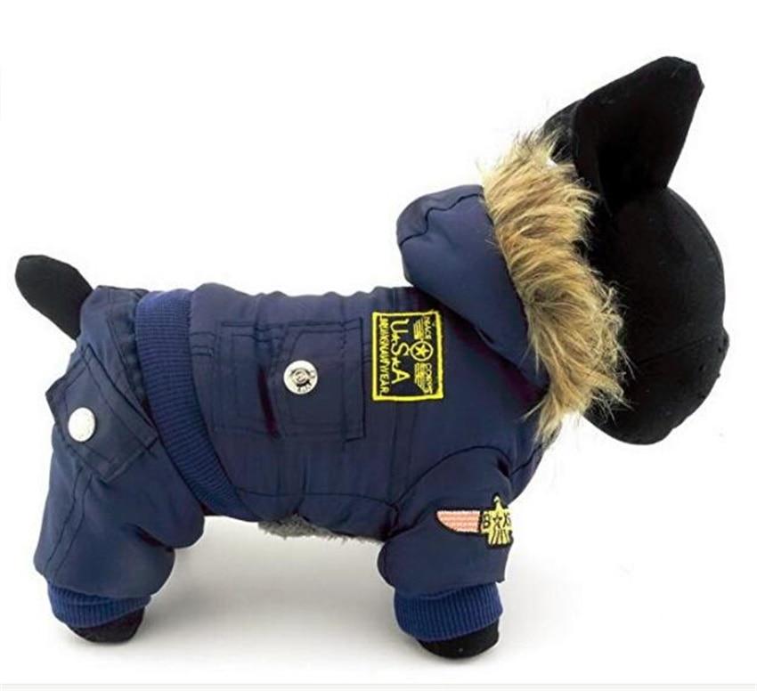 Ny komstjocklek Varmluftsman Stil Hundhundar Vinterrock Nya kläder - Produkter för djur