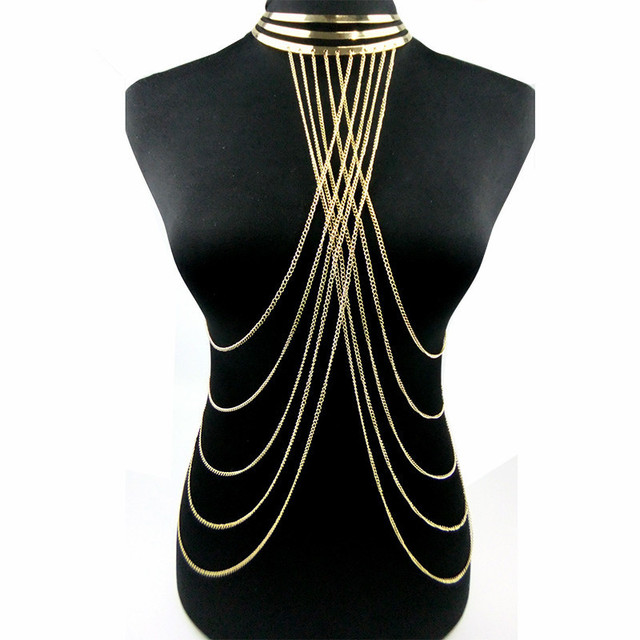 Gold Bodychains Necklace...