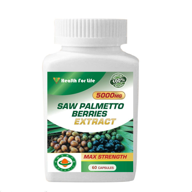5000MG STRONGEST! Saw Palmetto Extract Concentrated Men Health 100 pcs/bottle saw palmetto