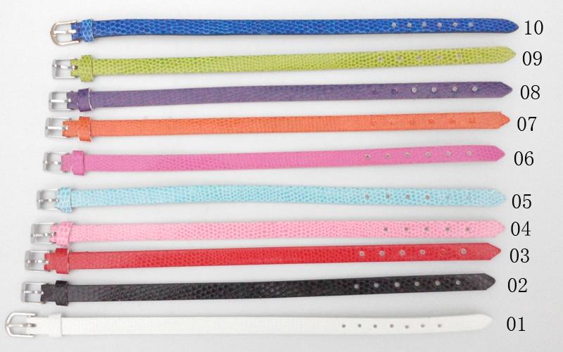 Color Faux Leather Belt Wristband fit 8mm Slider Letter Charms Pretty Bracelets for Women Christmas Gift for Children Kids Girls