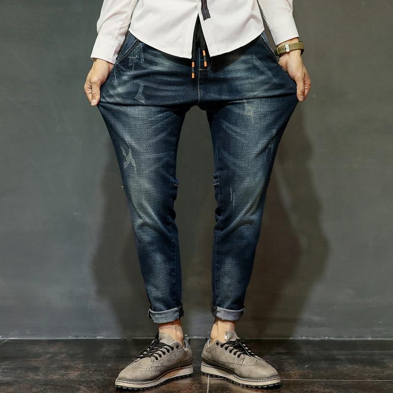 ФОТО Malkris Nmd 2017 Brand-clothing Elasticity Jeans Men Fashion Trousers Causal Pants Robin Balmai Jeans Dsq