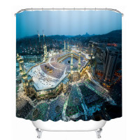 Bathroom Products Printed Polyester Bath Curtain Shower Curtain Modern City