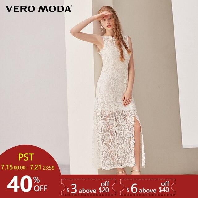 Vero Moda פיצול מכפלת שני חלקים תחרה שמלת | 31837A503