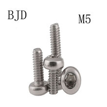 50pcs M5 screws GB2672 304 stainless steel The anti-theft Torx round head in burglar six lobe pan head machine security screws(China)