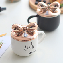 Creative Bowknot Decorated Eco-Friendly Ceramic Coffee Mug