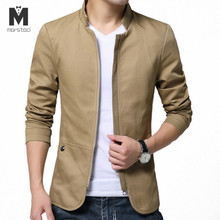 Marstaci Mens Jackets Fashion Mens Cotton Slim Windbreaker Jackets
