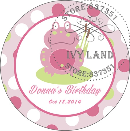 Free Shipping,New Paper,Custom Adhesive Sticker / Label,For Baby Shower / Birthday,Circle 5cm,B44