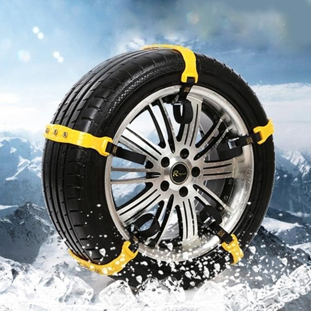 10 PCS Car Winter Snow Tire Anti-skid Chains Thickened Beef Tendon Vehicles Wheel Antiskid TPU Chain