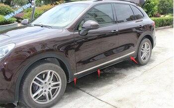 חיצוני מחוץ לרכב דלת גוף דפוס מגן מכסה כיסוי ערכת Trim Fit עבור פורשה קאיין 2015 2016 2017