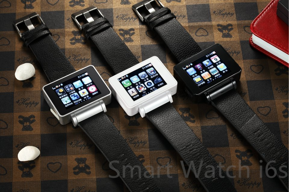 2017 New Arrival Fashion Smart Watch Phone I6S with Genuine Leather Strap, SIM Card, Flashlight, MP34, Camera, Compass, WiFi, FM