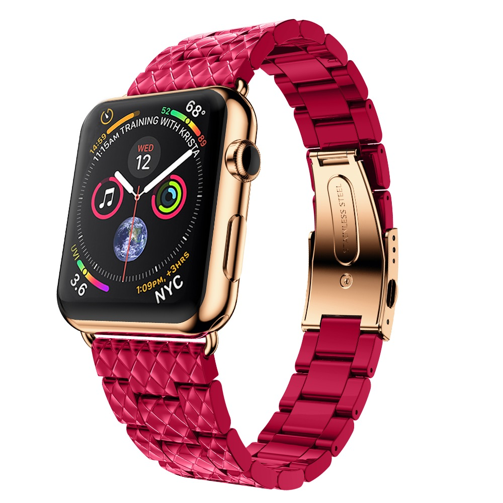 CRESTED Stainless steel band For Apple Watch 4 44mm 40mm strap correa iwatch series 3/2/1 42mm 38mm wristband Link bracelet belt цена