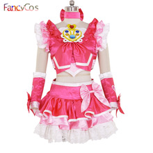 Halloween Women's New Suite PreCure Cure Melody Dress Cosplay Costume High Quality Custom Made(China)