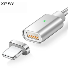 XPAY Magnetic Charger Cable for iPhone 5 5S 6 6S 7 8 Plus XS Fast Charging Telephones Max 2.4A Nylon Data Magnet Cables