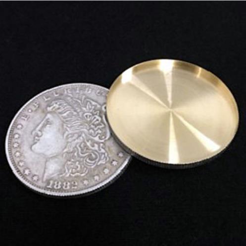 Expanded Shell + Copper Morgan Coin Magic Set Coin Appearing Tricks Coin Magic,Close Up Magic,Fun,Illusions,Gimmick Coins close-up