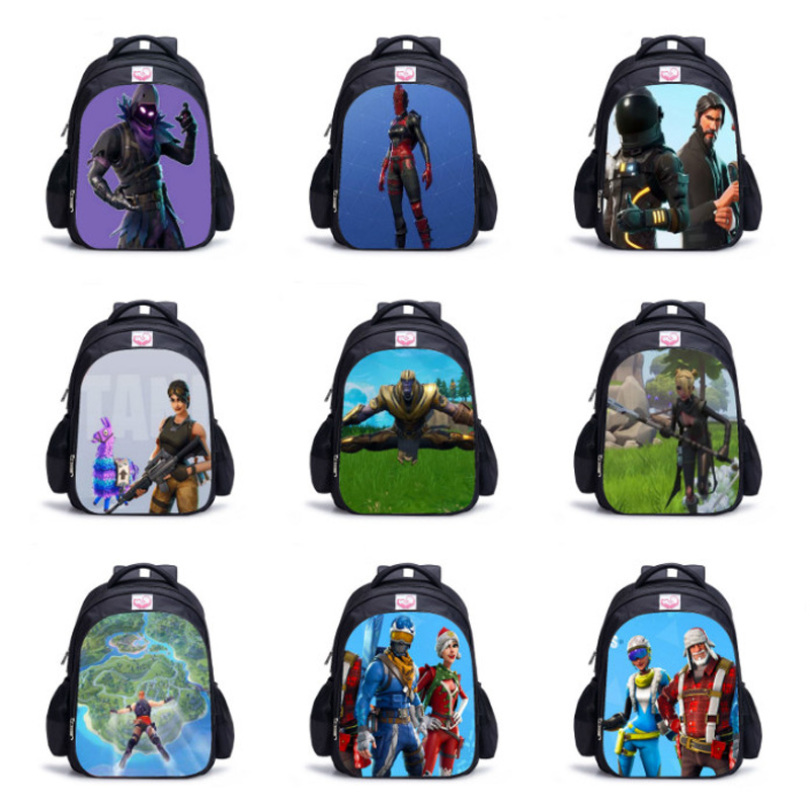 Dropshipping 3D Battle Royale Fortnit Game Backpack Boy Girl Children Bags Daily Daily School Backpacks Kids Bag Cosplay Costume