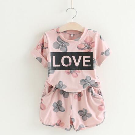 Clothing-Sets Suits Shorts Tops Toddler Girls Kids Children Polka 2pcs Dot