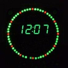 Электронные часы DIY Kit вращения LED электронные часы DIY Kit вращающийся Светодиодные Дисплей цифровой с четырьмя режимами FR4 Военное Дело уровня