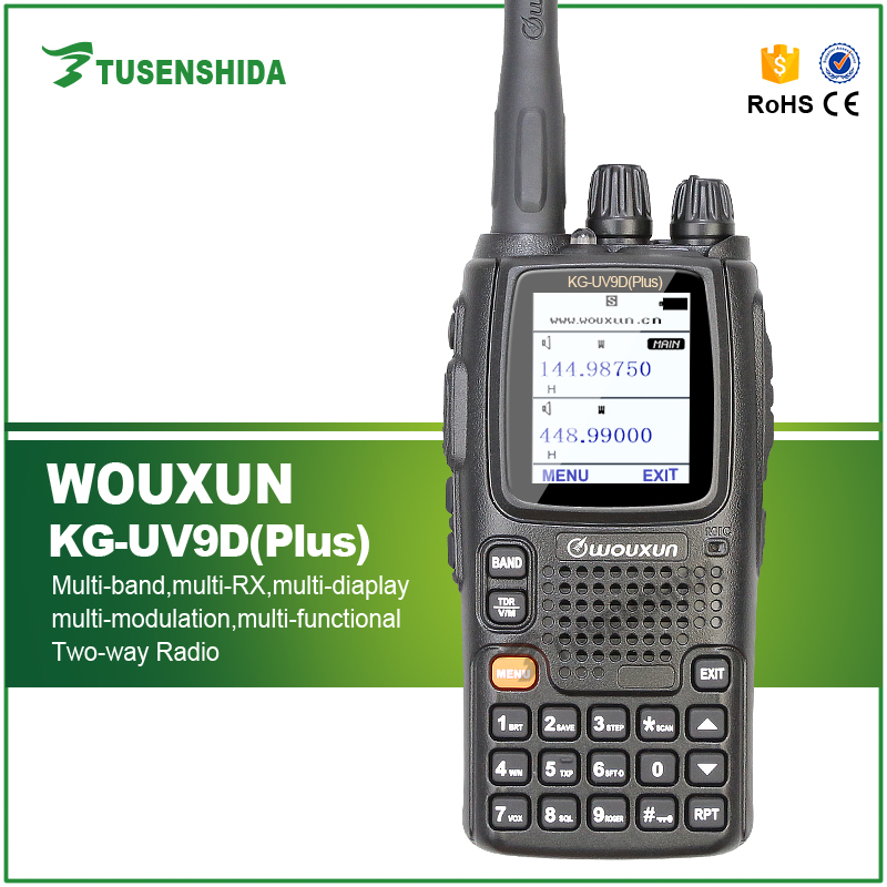 Wouxun KG-UV9DPlus Walkie Talkie UHF/VHF Multi Band Receive Multi-frequency Transceiver KG-UV9DPlus