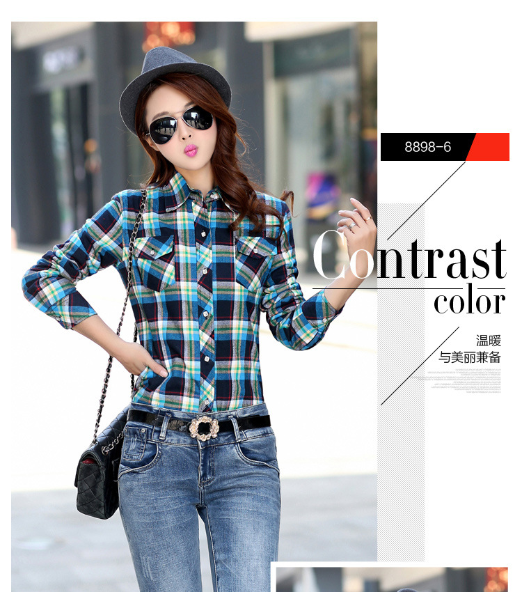 19 Brand New Winter Warm Women Velvet Thicker Jacket Plaid Shirt Style Coat Female College Style Casual Jacket Outerwear 13