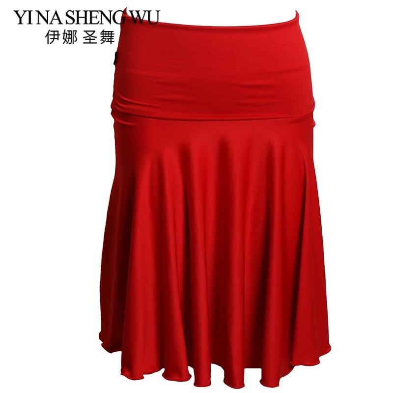 New Red/Black Latin Dancing Clothing For Women Adults Salsa/Rumba/Cha Cha/ Tango Costumes Adult Square Dance Latin Dance Skirt