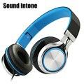 Sound intone ms2 fios de fone de ouvido fones de ouvido estéreo baixo fones de ouvido de telefones celulares computador mp3 fones de ouvido dobrável marca de alta qualidade