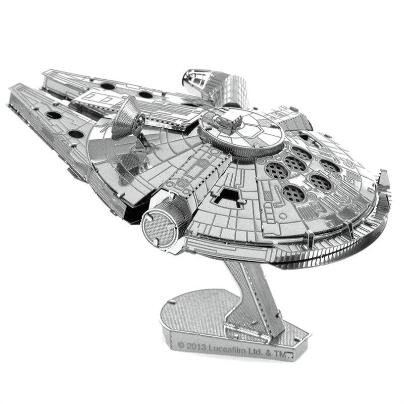 Millennium Falcon 3D Metal Bulmaca DIY Çocuk Oyuncakları Için Boy Starship Modeli Star Wars Bilmecenin Eğitici Oyuncaklar Çocuklar Için