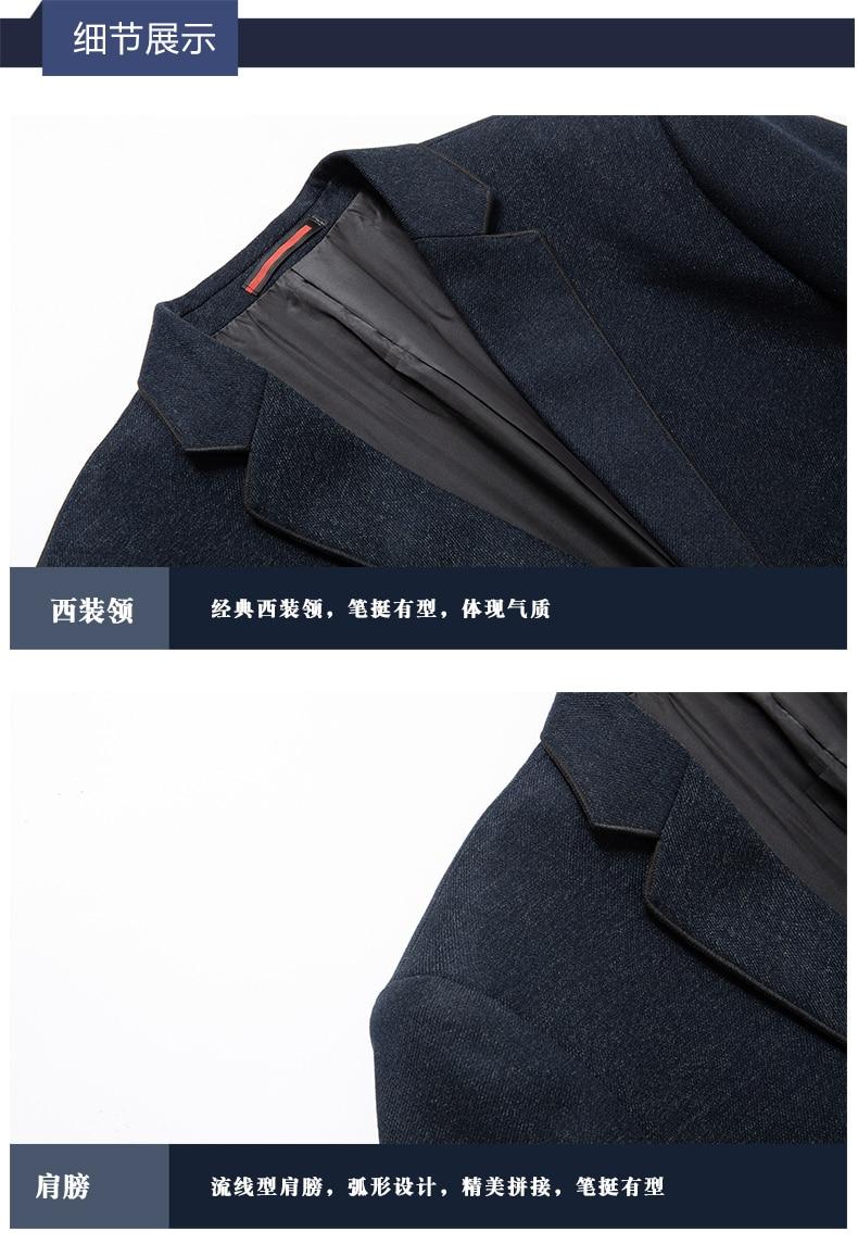 c5b99729ad ... WAEOLSA Elegance Man Slim Fit Blazer Navy Blue Suit Coat Men Smart Casual  Blazers Masculino Uniform ...