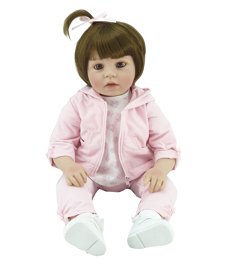 50cm Silicone Reborn Babies Doll Toys Lifelike Vinyl Lovely Princess Toddler Doll Kids Birthday Gift Child Girl Brinquedos 50cm silicone reborn babies doll toys lifelike vinyl lovely princess toddler doll kids birthday gift child girl brinquedos