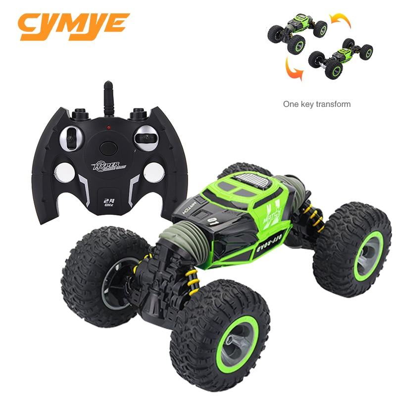 Cymye RC Car 4WD Double sided 2 4GHz One Key Transformation All terrain Vehicle Varanid Climbing