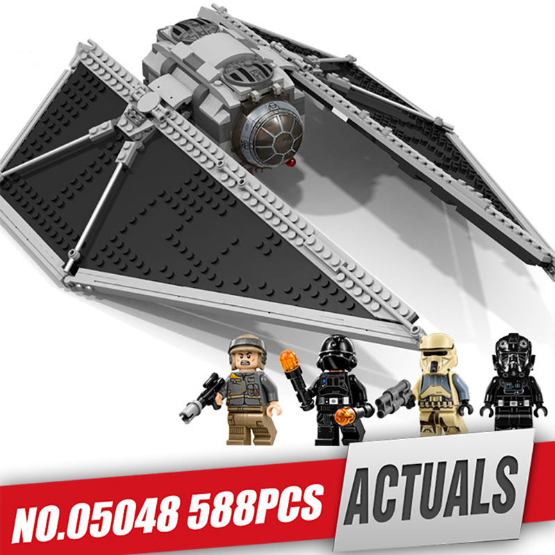 Lepin 05048 Star Classic Model Wars The TIE Striker Building Blocks Bricks Toy Compatible with legoing 75154 as children Gift