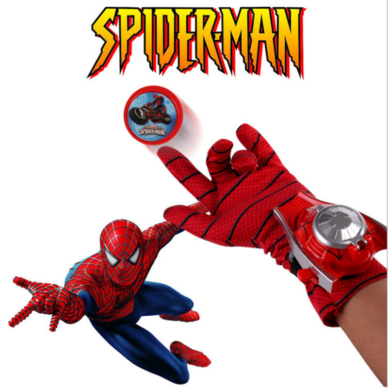 Marvel Avengers Super Heroes Gloves Laucher Spiderman Cosplay One Size luvas de inverno Glove Gants Props Christmas Gift for Kid