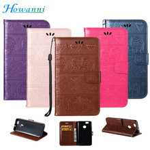 Howanni Elephant Leather Case For Samsung Galaxy J7 2017 Case Flip 5.5 Inch Wallet Stand Phone Cover For Samsung J7 2017 Case