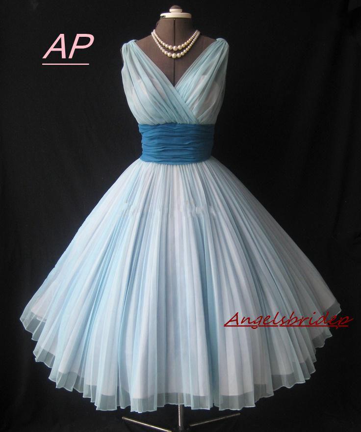 ANGELSBRIDEP Vintage 1950\'s Tea length Short Prom Dress Abendkleider ...