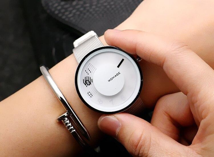 2018 Luxury Brand Women Man Unsex Fashion Full Mesh Steel Quartz Watch Ladies Dress Clocks Hours Reloj Mujer Relogio Feminino