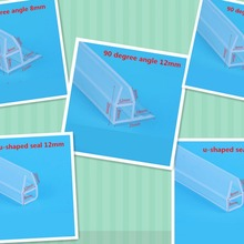 Изготовленный На Заказ силикон уплотнитель 6-12 мм толстое стекло экрана дверное, оконное уплотнение погода прокладка проект пробка-стоппер полоса 2 м