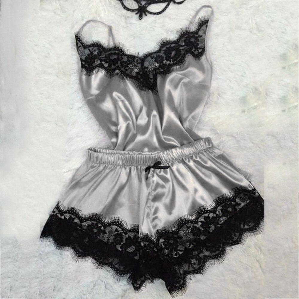 s-3xl-size-women's-sleepwear-sexy-satin-silk-pajama-set-lace-v-neck-pyjamas-sleeveless-cute-cami-top-2019-short-pijama-mujer-d7