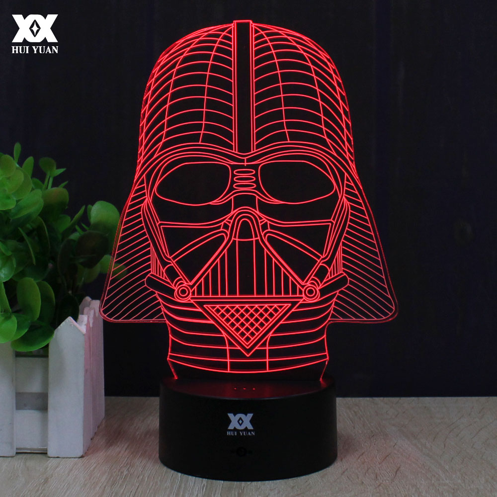 Star Wars Anakin Skywalker 3D Lamp Darth Vader Remote Control Night Light LED Decorative Table Lamp