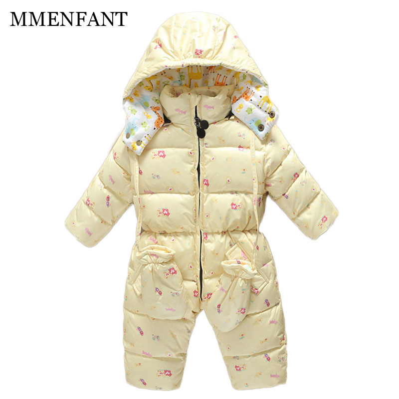 Fashion 2017 Winter baby jumpsuit kids snowsuit , baby winter coveralls, warm White duck down jacket, infant girl boys clothes the love of cat and mouse boy girl cartoon duck down jacket jumpsuit jackets baby snowsuit kids clothes 03