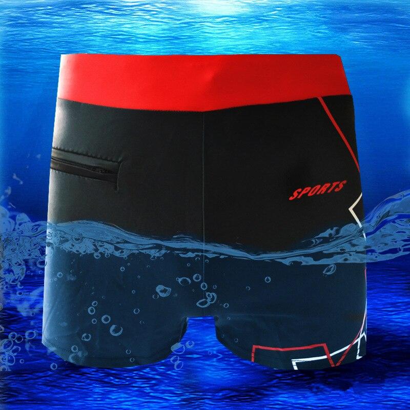 Swimming-Trousers Broad-Belt Beach Flat-Corner Comfortable Hot-Spring Men's
