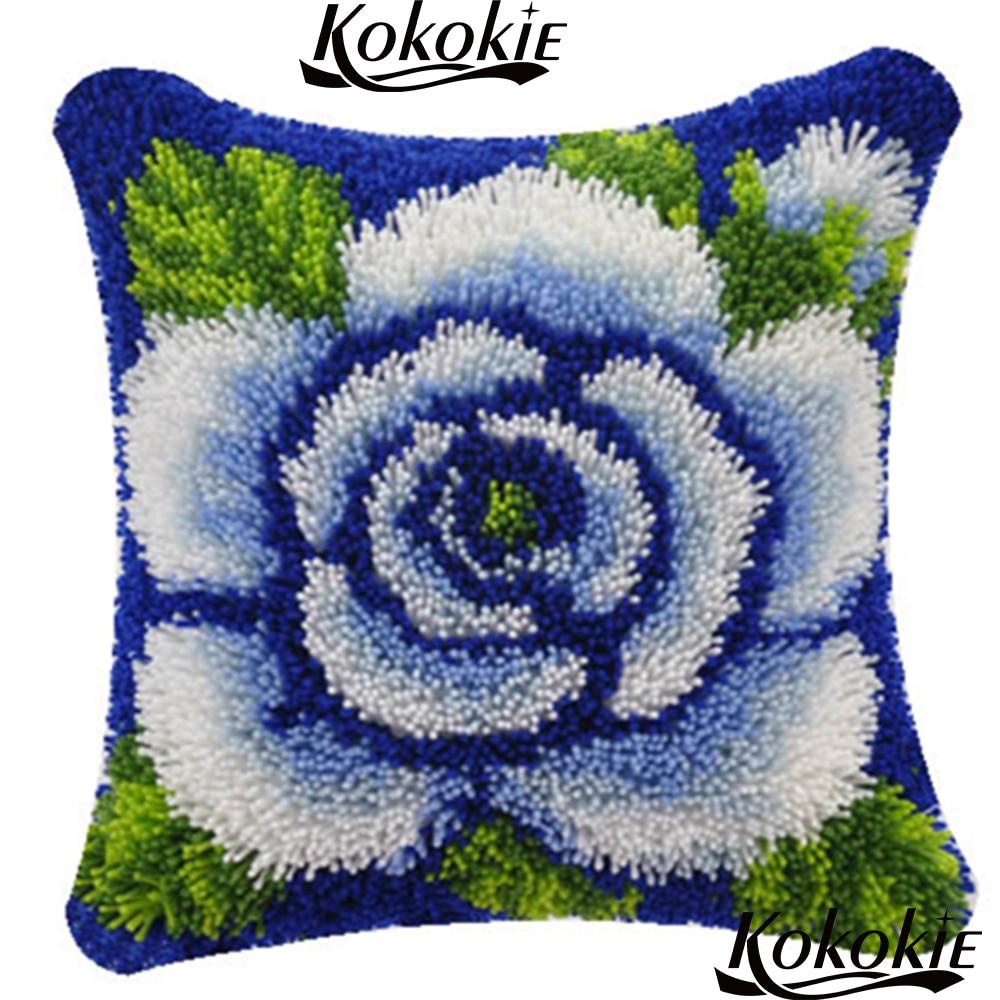 Latch Hooking Rug Pillow Kits Flower