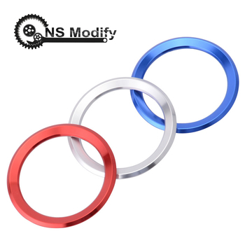 NS Modify Decoration Ring Steering Wheel Trim Circle Sticker For BMW M3 M5 E36 E46 E60 E90 E92 X1 F48 X3 X5 X6 Car Styling image