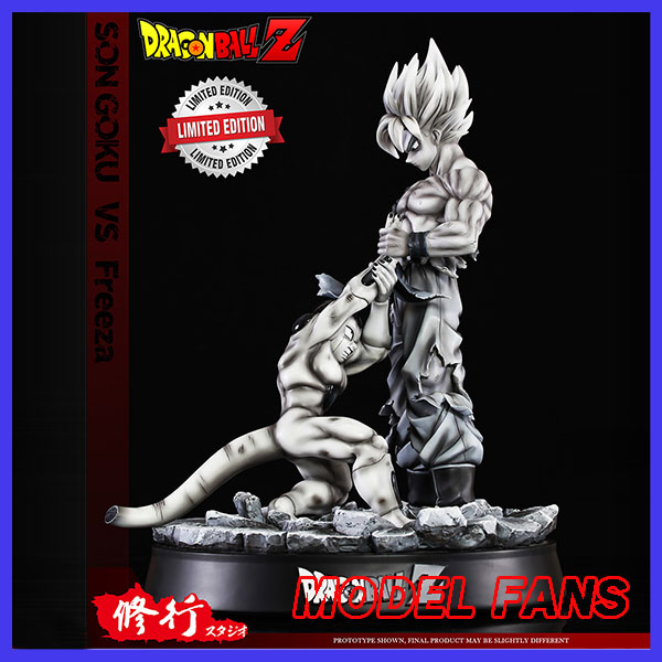 MODEL FANS Dragon Ball GK 41cm super saisan goku vs Frieza gk resin statue comic color figure toy for collection model fans dragon ball vkh 32cm goku vs piccolo gk resin statue figure toy for collection