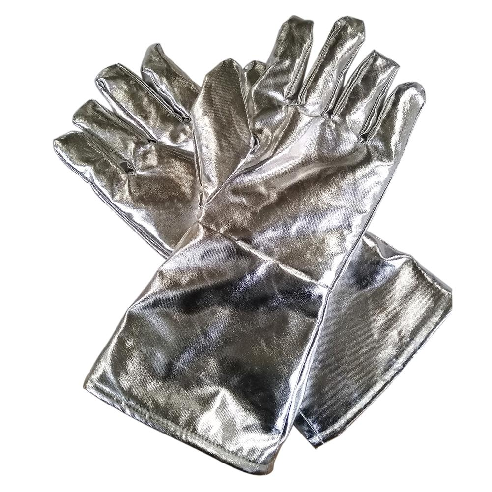 1 Pair 700/1000 Degree High Heat Resistant Thicken Aluminum Foil Kitchen Gloves 2019NEW