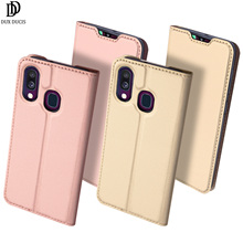 Flip Case For Samsung Galaxy A40 PU Leather TPU Soft Bumper Shockproof Protective Card Slot Holder Wallet Stand Cover Phone Bag stylish soft flip open pu case w stand card slot for samsung galaxy s5 deep blue