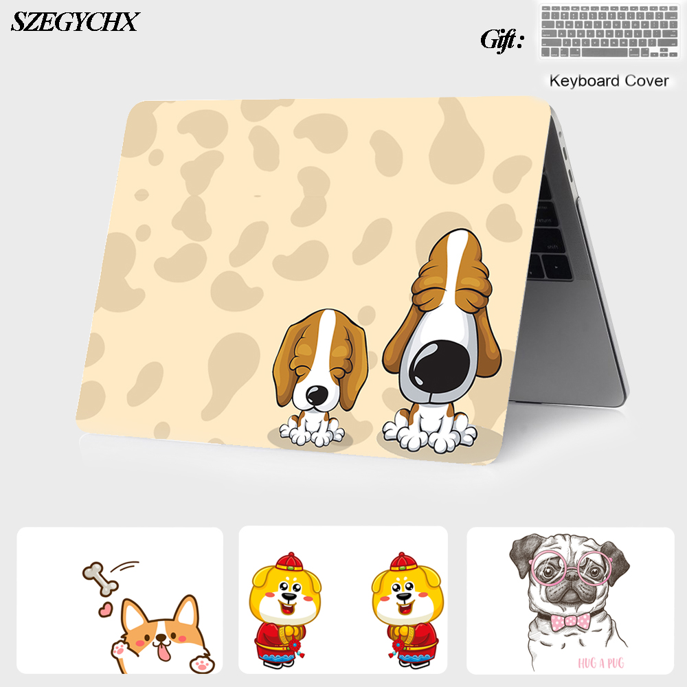 Cartoon Laptop Case For Apple MacBook Air Pro Retina 11 12 13 15 for mac book New Pro 13 15 inch with Touch Bar+Screen protector