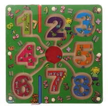 Wooden Magnetic Pen Bead Maze Game Labyrinth Kids Learning Education Toys  W30