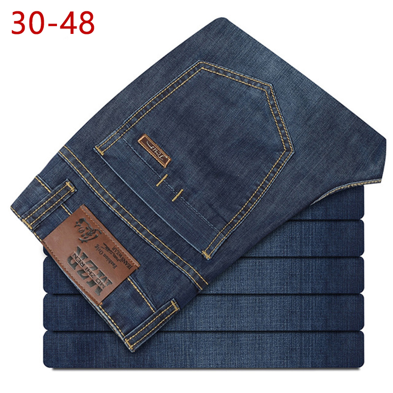 Plus Size 30-48 Summer Thin Mens Casual Baggy Jeans Blue Male Cotton Denim Pants Brand Lightweight High Quality Jeans For Men