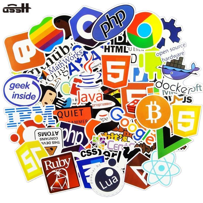 50 Pcs Internet Java JS Php Html Cloud Docker Bitcoin Programming Language APP Logo Cool Stickers for Laptop Car DIY Stickers50 Pcs Internet Java JS Php Html Cloud Docker Bitcoin Programming Language APP Logo Cool Stickers for Laptop Car DIY Stickers